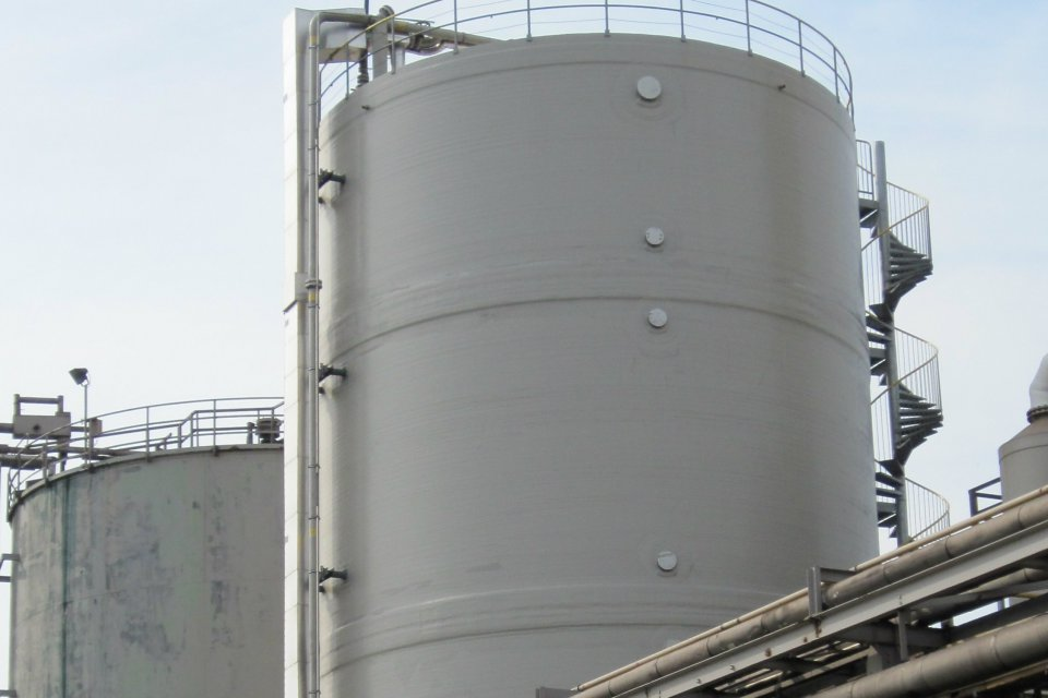 Projects Large Diameter Storage Tank Field Fabricated