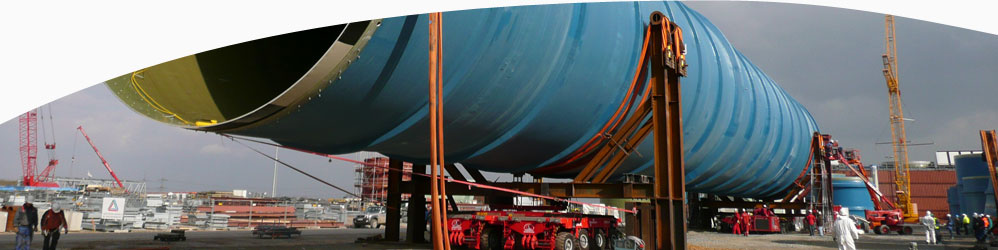 Large diameter duct for transportat of gasses